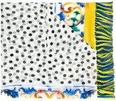 Dolce & Gabbana polka dot & Majolica print scarf - women - Silk/Viscose - One Size