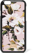 Dolce & Gabbana Printed Textured-leather Iphone 6 Case - Pastel pink