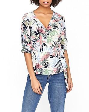 Vero Moda Pheobe Floral Print Wrap Top