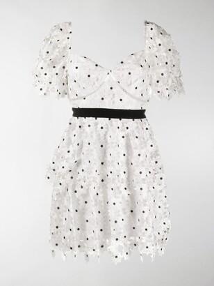 Self-Portrait Ruffled Tiered Dress