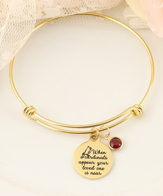 Swarovski Designs By Karamarie Designs by KaraMarie Women's Bracelets - Red & 14k Gold-Plated Cardinal Bangle With Crystals