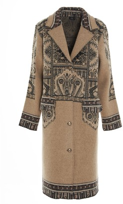 Etro Paisley Patterned Single Breasted Coat