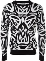 Moschino peace sign intarsia jumper