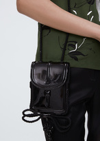 Dries Van Noten black mini patent leather shoulder bag