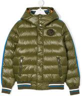 Diesel stripe-trimmed puffer jacket