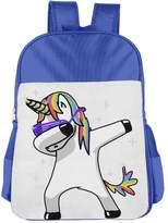 CUIPO JUCPOI Boys'&Girls' Unicorns Dabbing School Backpacks Book Bags