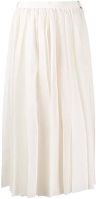 Sacai Midi Pleated Skirt