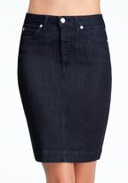 Bebe Back Slit Denim Pencil Skirt