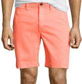 Arizona Flex Surfer Prep 8 Inseam Flat-Front Shorts