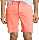 Arizona Flex Surfer Prep 8 Inseam Flat-Front Shorts
