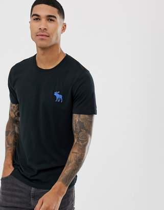 Abercrombie & Fitch large icon logo t-shirt in black