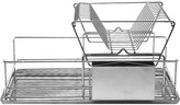 DECKER Stainless steel double level dish drainer