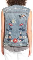 BP Troublemaker Embroidered Denim Vest