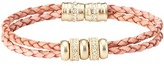 LOFT Braided Leather and Rondelles Bracelet