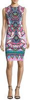 Roberto Cavalli Printed Sleeveless Sheath Dress, Pink
