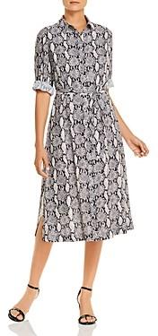 T Tahari Printed Maxi Shirt Dress