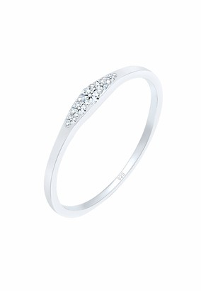 Diamore Women Silver Solitaire Engagement Ring - 0606640418_54