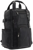 Tumi Alpha Bravo - Lejeune Leather Backpack Tote (Black) - Bags and Luggage
