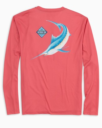 Southern Tide Long Sleeve Blue Fish Performance T-Shirt