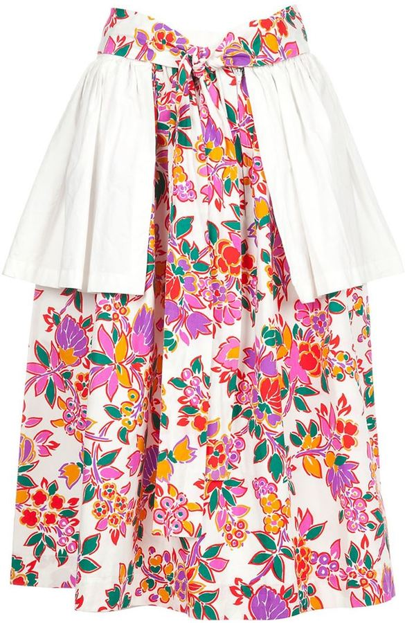 Saint Laurent Vintage peplum detail skirt