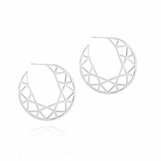 Myia Bonner Silver Brilliant Diamond Hoop Earrings