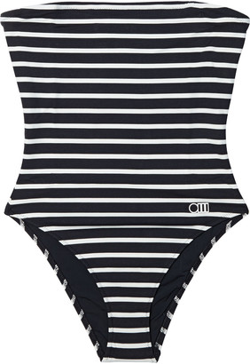 Solid & Striped The Madeline Striped Bandeau Swimsuit