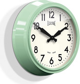 Newgate Clocks - 50's Electric Clock - Kettle Green