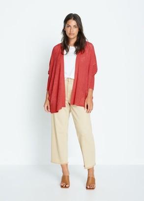 MANGO Violeta BY Dolman sleeve cardigan khaki - S - Plus sizes