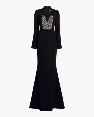 Badgley Mischka Embellished Bodice Gown