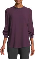 Eileen Fisher Back-Tie Long-Sleeve Silk Blouse