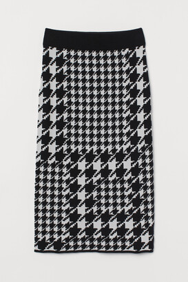 H&M Jacquard-knit skirt