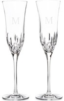 Waterford Lismore Essence Monogram Toasting Flute Pair, Block