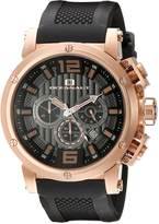 Oceanaut Men's OC2121 Black/Rose Chronograph Watch