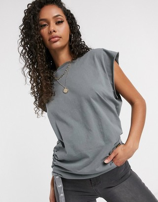G Star G-Star gyre knot top with logo print in grey