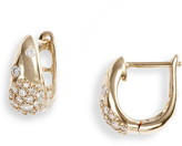 Dana Rebecca Designs Cynthia Rose Pave Huggie Earrings