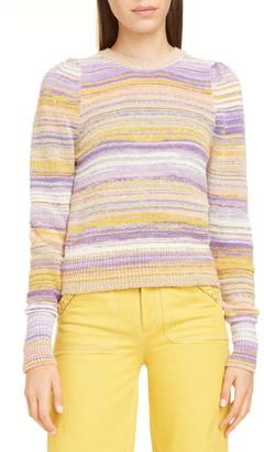 Marc Jacobs Metallic Stripe Crewneck Sweater
