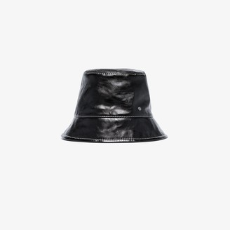 Maison Michel black Souna leather bucket hat