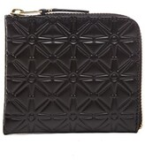 Comme des Garcons Small Star Embossed Zip Wallet