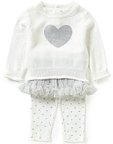 Wendy Bellissimo Baby Girls 3-24 Months Heart Applique Top, Tutu, and Leggings Set