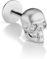Maria Tash Matte Skull Threaded Stud Earring with Diamonds