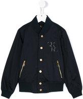 Billionaire Kids print detail bomber jacket