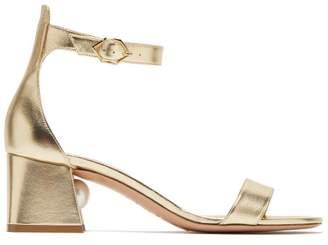 Nicholas Kirkwood Miri Pearl Heel Ankle Strap Sandals - Womens - Gold