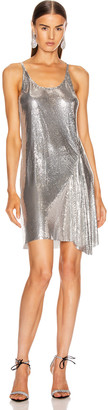Paco Rabanne Mesh Tank Mini Dress in Silver | FWRD