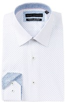 Report Collection Blue Dot Slim Fit Dress Shirt