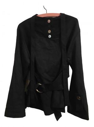 Eudon Choi Black Wool Tops