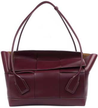 Bottega Veneta Bag Arco 56 In French Bordeaux Calf Leather