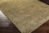 Surya GLO1005-58 Hand Knotted Casual Area Rug, 5-Feet by 8-Feet
