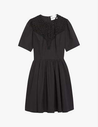 The Kooples Sport Tulle-trimmed cotton dress