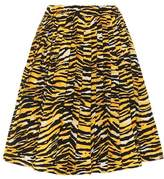 Prada Printed cotton poplin skirt