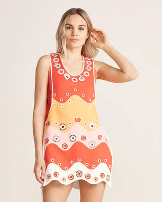Emilio Pucci Jewel Grommet Color Block Drawstring Dress